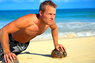 Beach Workout - Copyright – Stock Photo / Register Mark