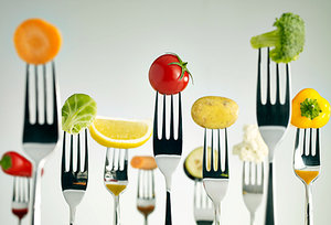 fruits and vegetables - Copyright – Stock Photo / Register Mark