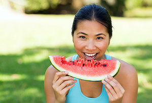 eating watermelon - Copyright – Stock Photo / Register Mark