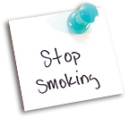 stop smoking note - Copyright – Stock Photo / Register Mark