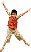 boy jumping - Copyright – Stock Photo / Register Mark