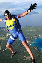 Old man sky diving - Copyright – Stock Photo / Register Mark