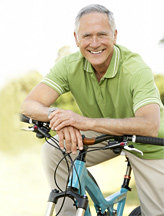Old man & bike - Copyright – Stock Photo / Register Mark