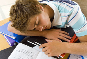 sleepy teen - Copyright – Stock Photo / Register Mark