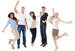 happy people - Copyright – Stock Photo / Register Mark