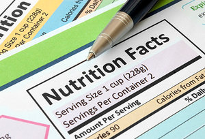 nutrition facts - Copyright – Stock Photo / Register Mark
