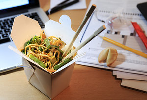 office meal - Copyright – Stock Photo / Register Mark