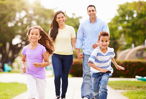family exercise - Copyright – Stock Photo / Register Mark