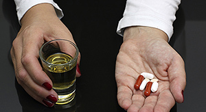 alcohol and pills - Copyright – Stock Photo / Register Mark