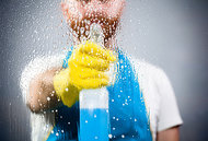 cleaning window - Copyright – Stock Photo / Register Mark