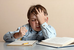 kids with stress - Copyright – Stock Photo / Register Mark