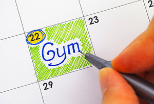 gym schedule - Copyright – Stock Photo / Register Mark