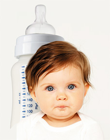 baby and bottle - Copyright – Stock Photo / Register Mark