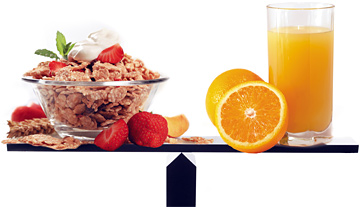 Cereal and orange juice - Copyright – Stock Photo / Register Mark