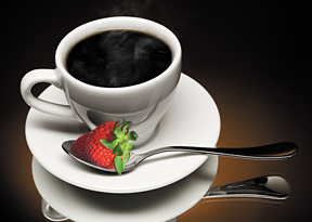 coffee and strawberry - Copyright – Stock Photo / Register Mark