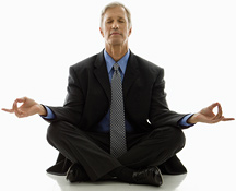 Man doing Yoga - Copyright – Stock Photo / Register Mark