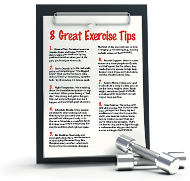 8 Great Exercise Tips - Copyright – Stock Photo / Register Mark