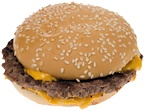 A fast food cheeseburger. - Copyright – Stock Photo / Register Mark