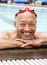 Eldery by the pool 2 - Copyright – Stock Photo / Register Mark