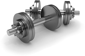 dumb bells - Copyright – Stock Photo / Register Mark