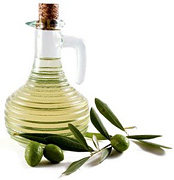 A carafe of olive oil.