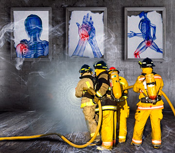 Pain: Putting the Fire Out - Copyright – Stock Photo / Register Mark