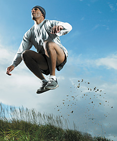 jumping man - Copyright – Stock Photo / Register Mark
