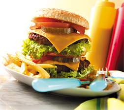 hamburger meal - Copyright – Stock Photo / Register Mark