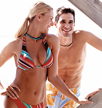 Swimsuit ready man and woman 2 - Copyright – Stock Photo / Register Mark