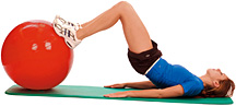 Winning Without Weights Supine Ball Bridge